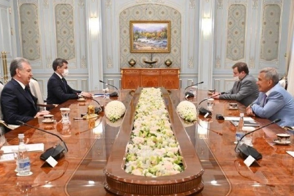 Президент Татарстана находится в Узбекистане с рабочим визитом. Фото: president.tatarstan.ru