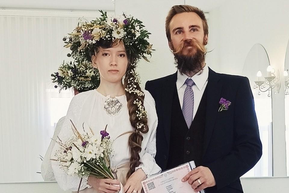 Девушка из Лысьвы очаровала гражданина Финляндии. Фото: отдел ЗАГС города Лысьва.