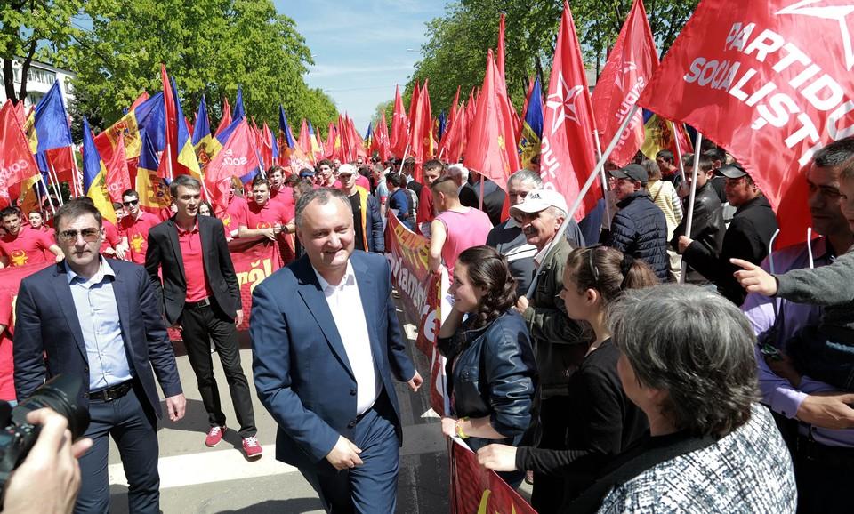 Игорь Додон зовет граждан на протесты (Фото: ПСРМ).