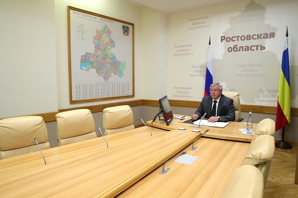 Планы губернатор озвучил на заседании оперштаба по борьбе с COVID-19/ Фото: сайт правительства РО