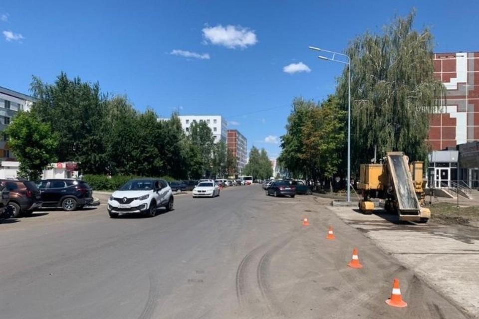 Участок ремонтируемой дороги от проспекта Дружбы Народов до проспекта Хасана Туфана в Набережных Челнах. Фото: мэрия города