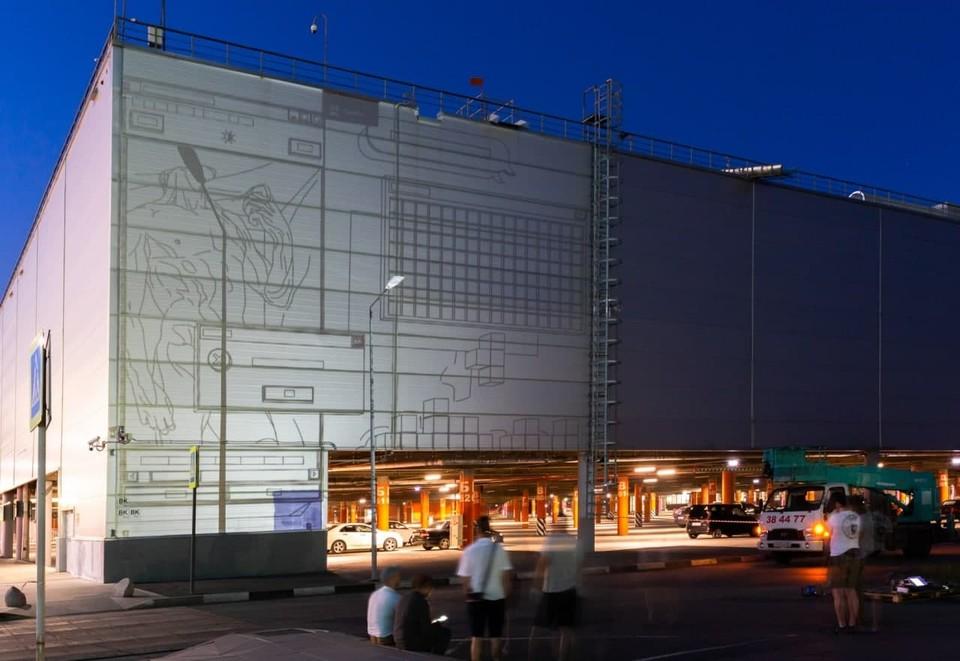 Масштабный рисунок займет всю стену торгового центра.