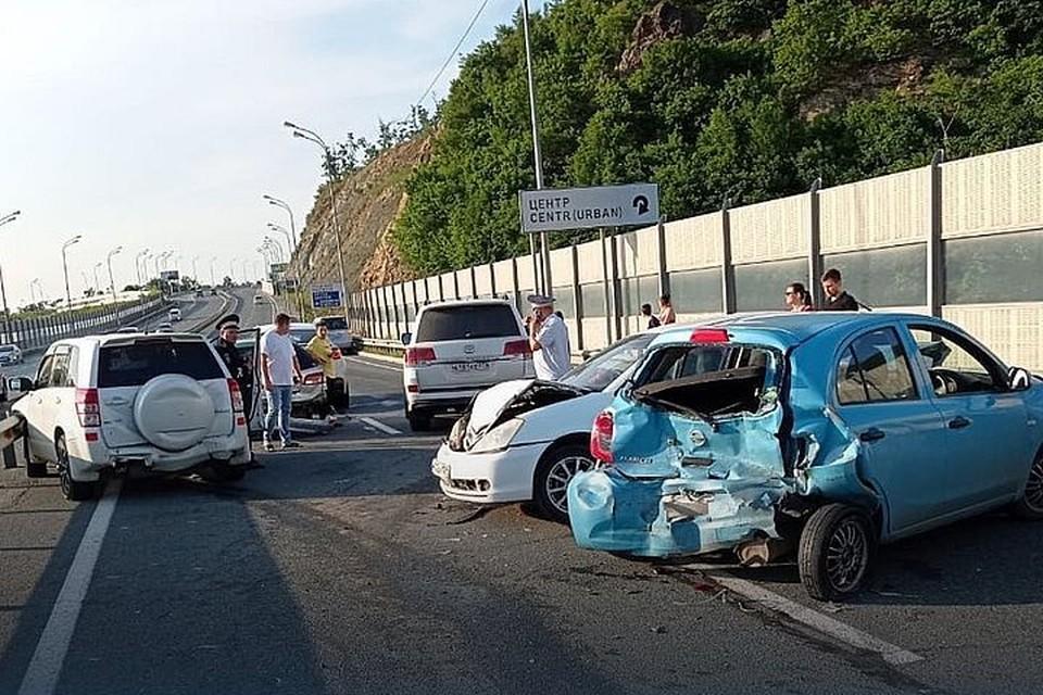 Массовая авария на объездной. Фото: www.instagram.com/prim_police.