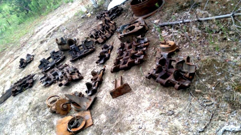 Скорее всего, похитители запчастей хотели сдать их в металлолом. Фото: сайт УМВД России по Томской области
