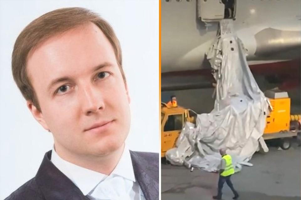 Владимир Кузнецов открыл аварийный люк, когда в самолёте стало невозможно дышать из-за духоты.