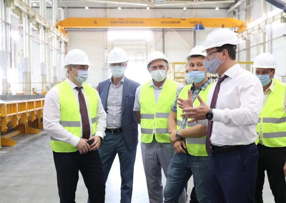 Губернатор проинспектировал строительство завода