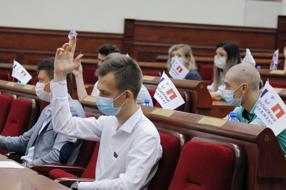 В Молодежном парламенте единогласно приняли предложение «О налоге на профессиональный доход». Фото: пресс-служба Молодежного парламента ДНР