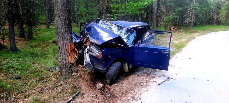 В Югре пьяный водитель врезался в дерево: одна из пассажирок не выжила