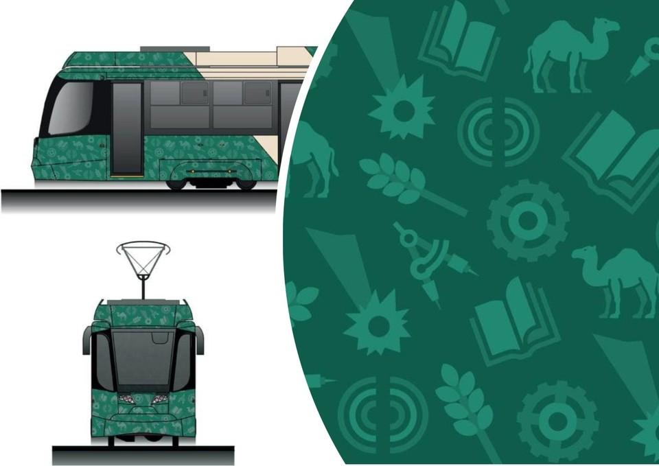 Так будут выглядеть новые трамвайные вагоны. Иллюстрация: министерство дорожного хозяйства и транспорта Челябинской области