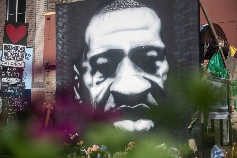 В Огайо молния ударила в граффити с изображением Джорджа Флойда