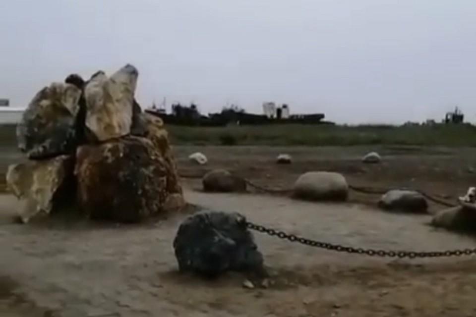 Эвенский стоунхендж появился на Колыме и рассмешил местных жителей. Фото: скриншот с видео.