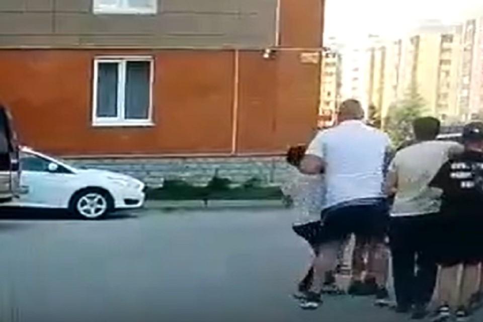 Под Новосибирском мужчина избил 10-летнего мальчика. Фото: стоп-кадр.