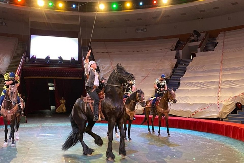 Новая программа «HELLO CIRCUS» посвящена 150-летию легендарного казахского борца и циркового артиста Кажымукана Мунайтпасова.