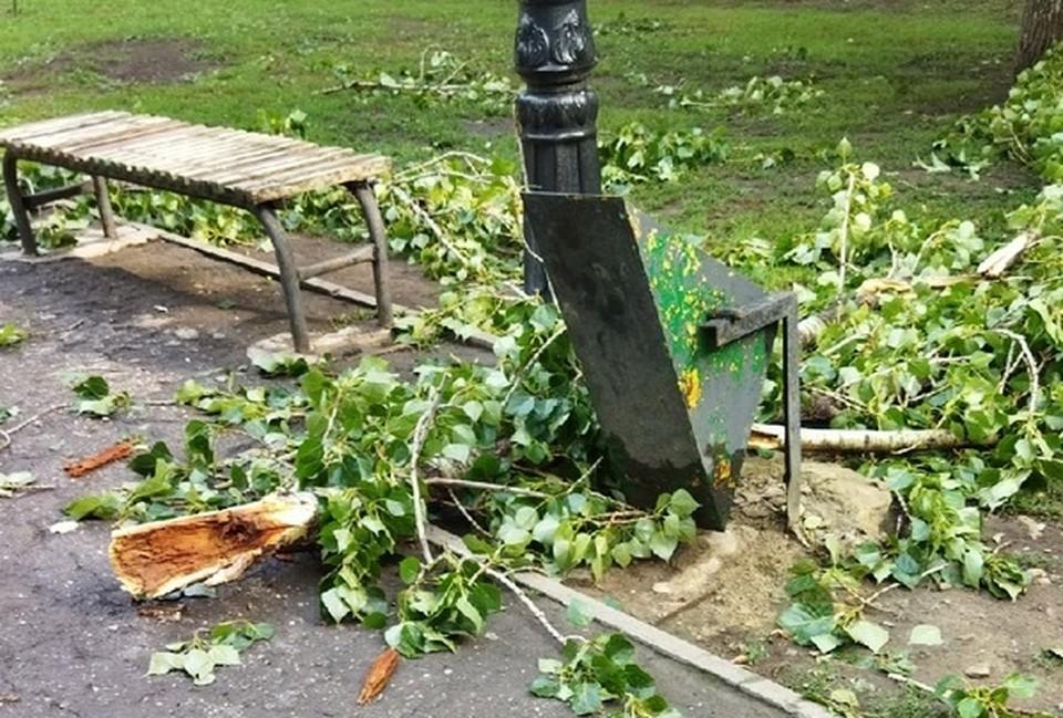 Последствия урагана в Саратове