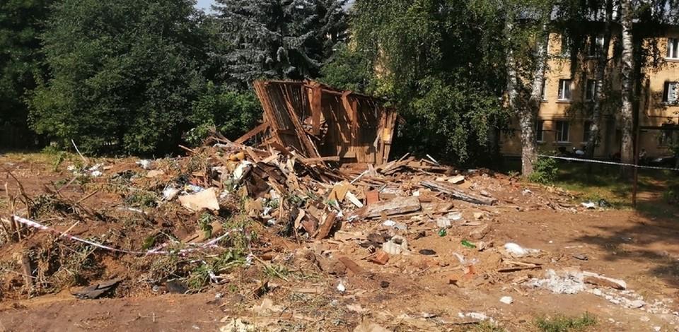 Аварийные сараи демонтируют в Приокском районе Нижнего Новгорода