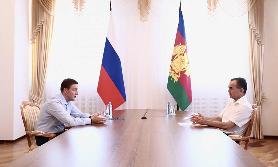 Андрей Турчак и Вениамин Кондратьев встретились обсудить возможности