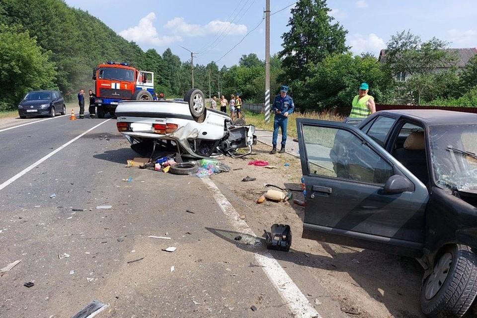 Один человек погиб в результате серьезного ДТП 17 июля в Осиповичах. Фото: УВД Могилевского облисполкома