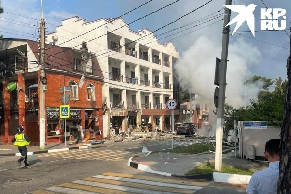 Так выглядела улица после взрыва