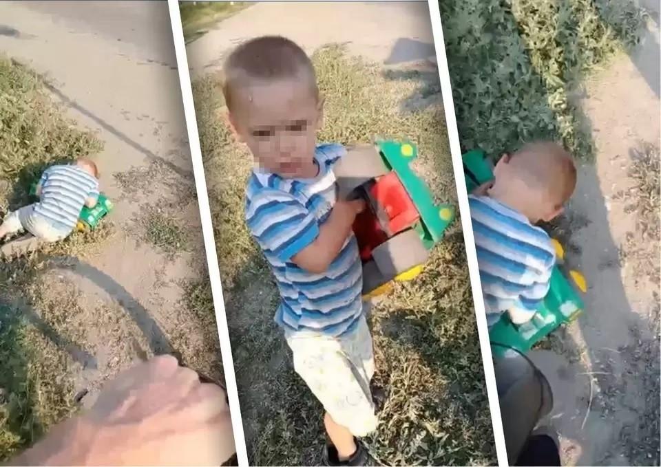Мальчик спал в обнимку с пластмассовым грузовиком. Фото: скриншот видео из сообщества «Типичный Челябинск»