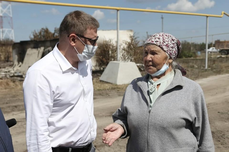 Глава области ответил на вопросы жителей Джабыка и Запасного. Фото: gubernator74.ru