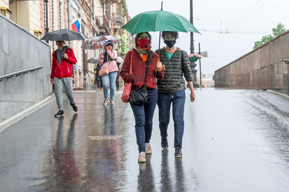 Дожди и до +24 будет в Петербурге 20 июля
