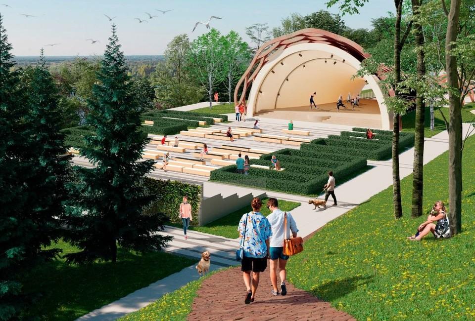 Историческую сцену-ракушку монтируют в Александровском саду Нижнего Новгорода