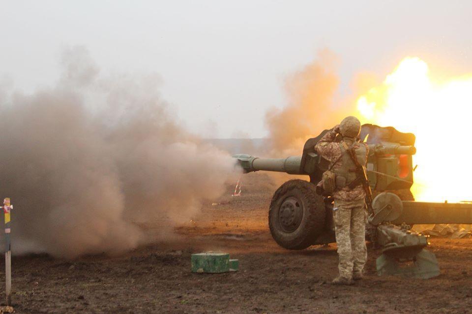 ВСУ применили ствольную артиллерию для обстрелов ДНР. Фото: Пресс-центр штаба ООС