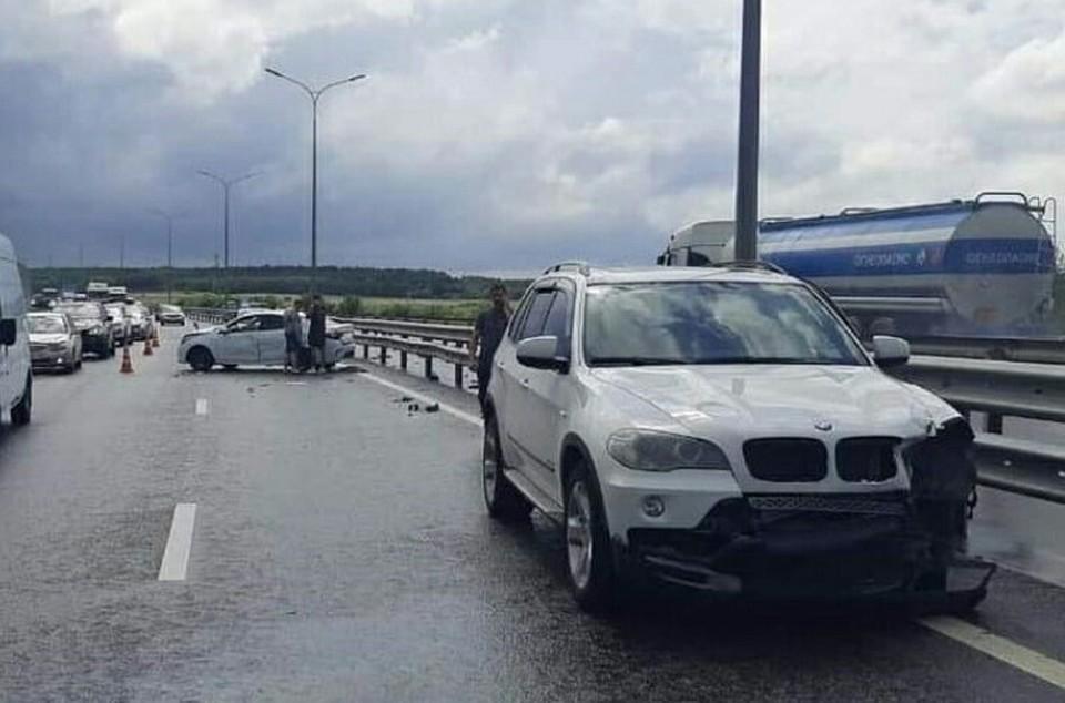 Пострадавшего водителя доставили в больницу. Фото: Пресс-служба МВД по РК