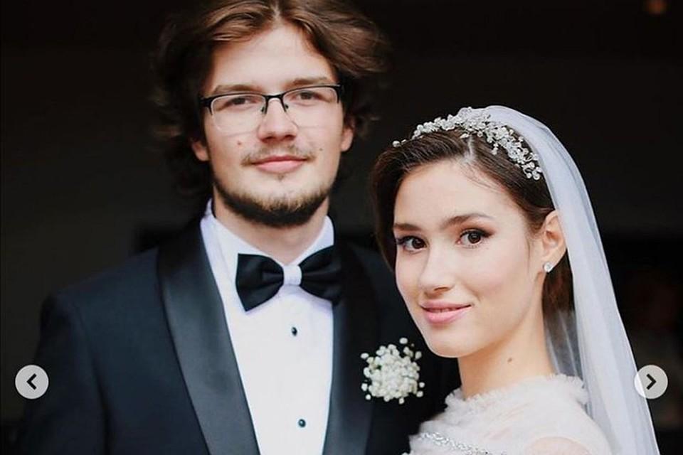 Дина Немцова вышла замуж за своего друга детства Дмитрия Матевосова в августе 2020 года. Фото: Инстаграм Екатерины Одинцовой.