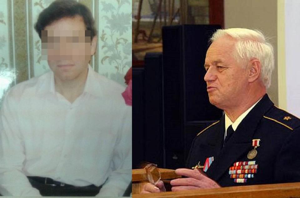 Сын адмирала (слева) был убит в своей квартире