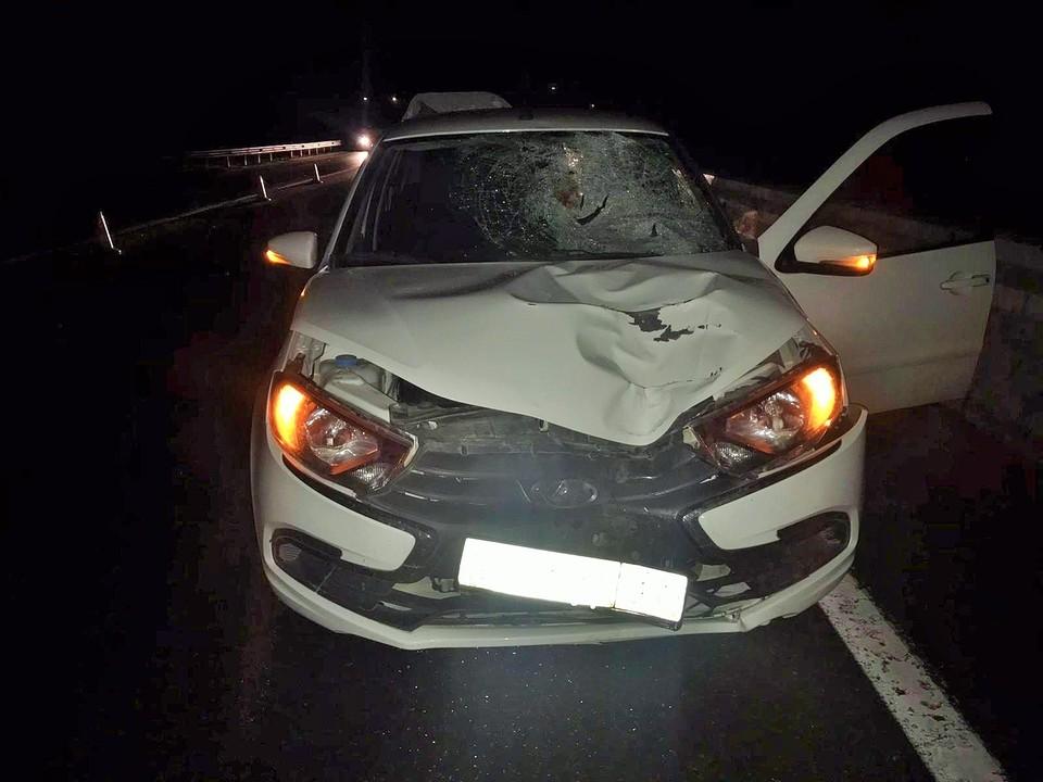 В Югре водитель Лады насмерть сбил пешехода Фото: ГИБДД России