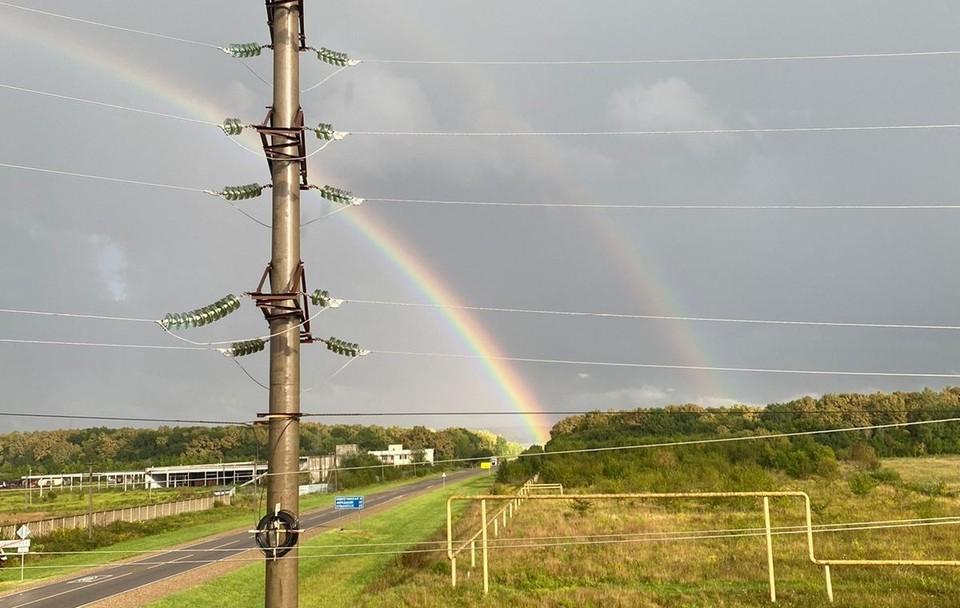 В Горячем Ключе выглянула двойная радуга Фото: Реанна Чайка