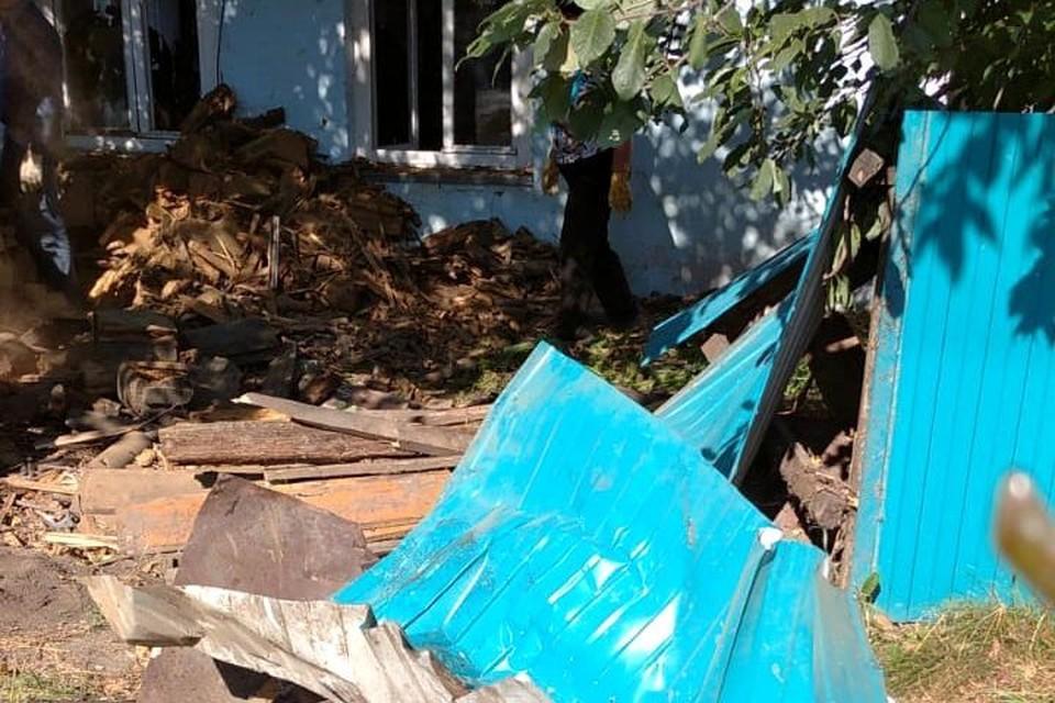 Дом пенсионерки серьезно пострадал.