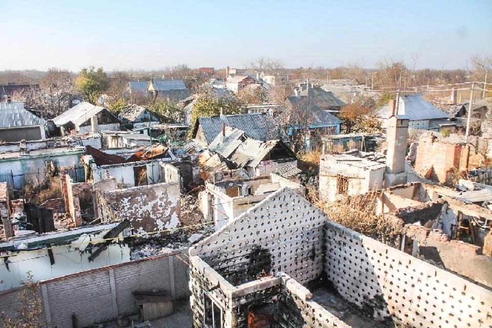 Масштаб разрушений, нанесенных Донбассу за год войны, просто катастрофический