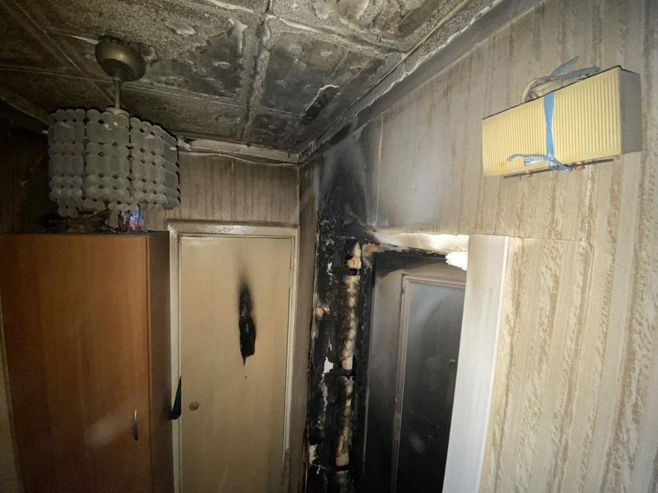 Пожар на Рахова в Саратове