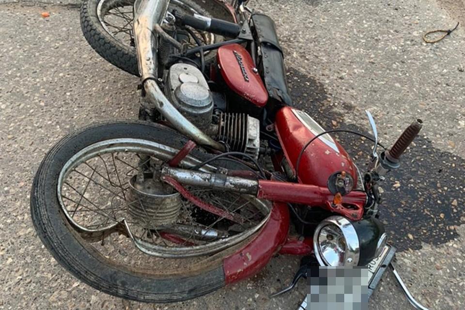 Мотоциклиста доставили в больницу Фото: УГИБДД России по Тверской области