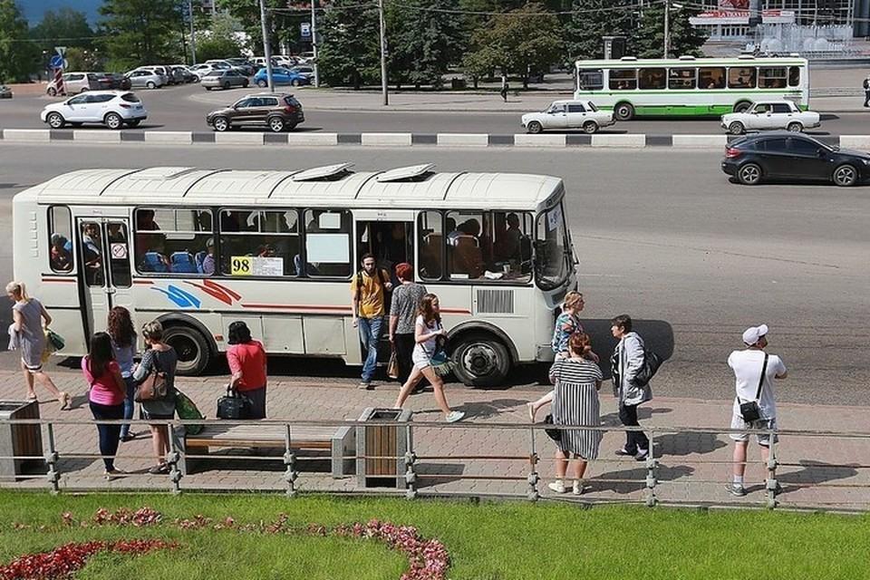 В красноярской Покровке изменилась на четыре дня схема движения автобусов
