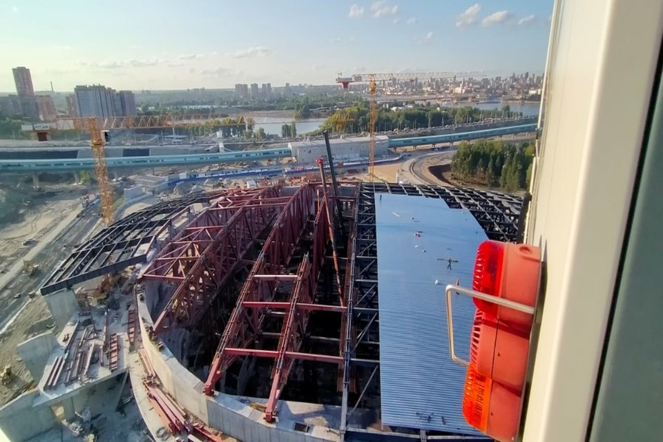 Ледовая арена уже готова на 47%. Фото: Правительство НСО