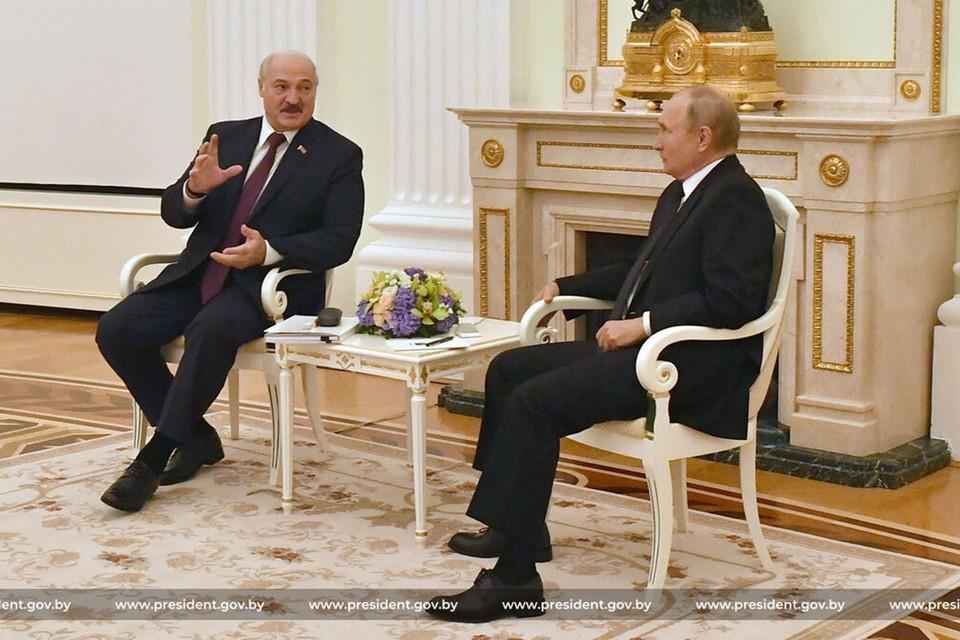 Путин и Лукашенко встретились в Москве 9 сентября. Фото: president.gov.by