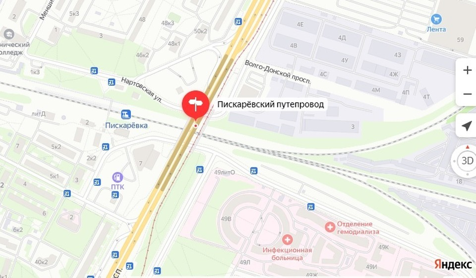 Движение откроется 13 сентября. Фото: скриншот с Яндекс. Карты