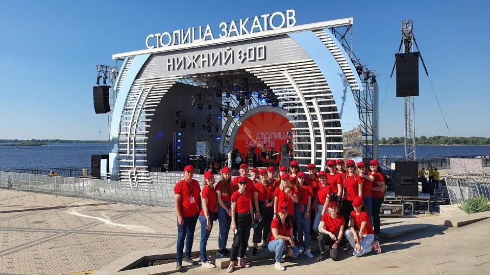 Более тысячи волонтеров помогли в проведении юбилея Нижнего Новгорода Фото: пресс-служба администрации Нижнего Новгорода