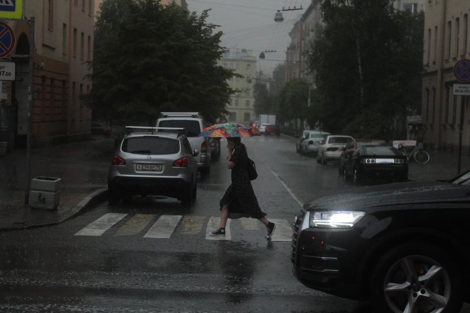 Ливень обрушился на Петербург 13 сентября