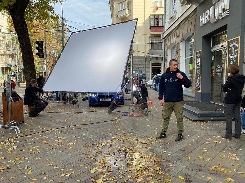 Съемки фильма на улице Красной. Фото: пресс-служба администрации Краснодарского края
