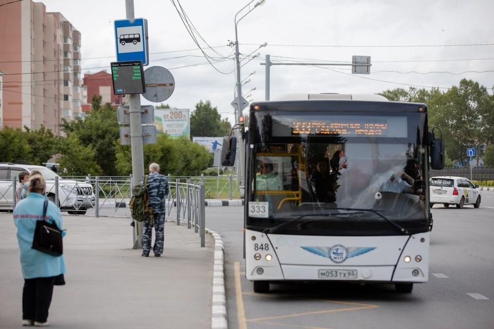 Автобусы по временной схеме будут двигаться ориентировочно до 1 октября, до момента заселения студентов СахГУ