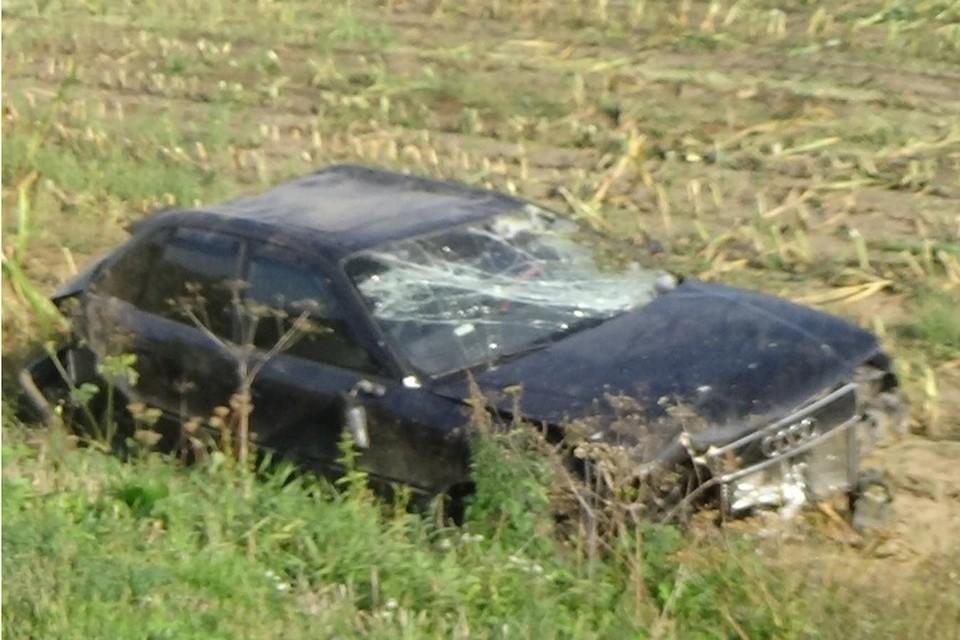 31-летняя женщина за рулем автомобиля «Ауди 80» не справилась с управлением. Фото: УГИБДД УМВД России по Брянской области.