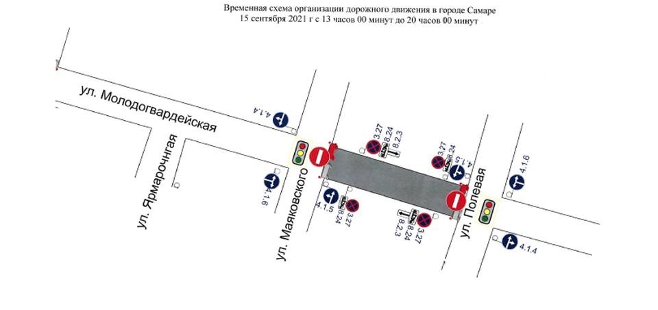 В Самаре 15 сентября перекроют улицу Молодогвардейскую. ФОТО: Администрация города