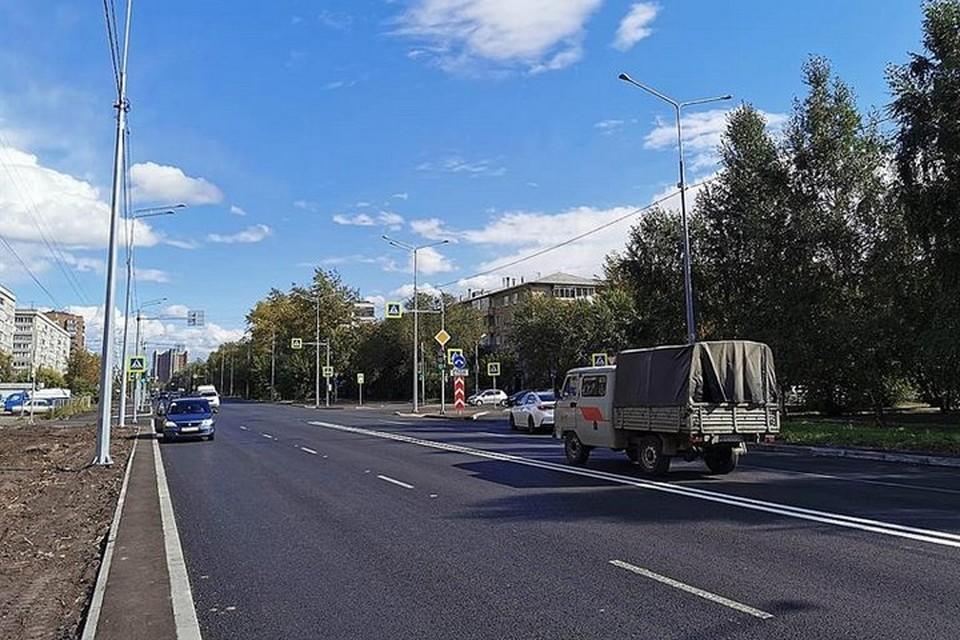 В Красноярске на улице Павлова завершается ремонт. Фото: пресс-служба администрации города