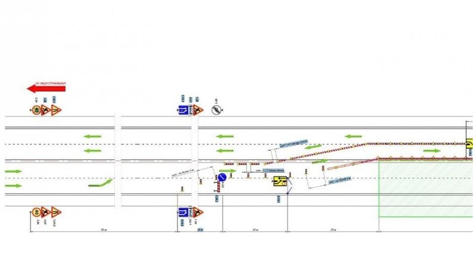 Временная схема следования транспорта. Фото: sev.gov.ru