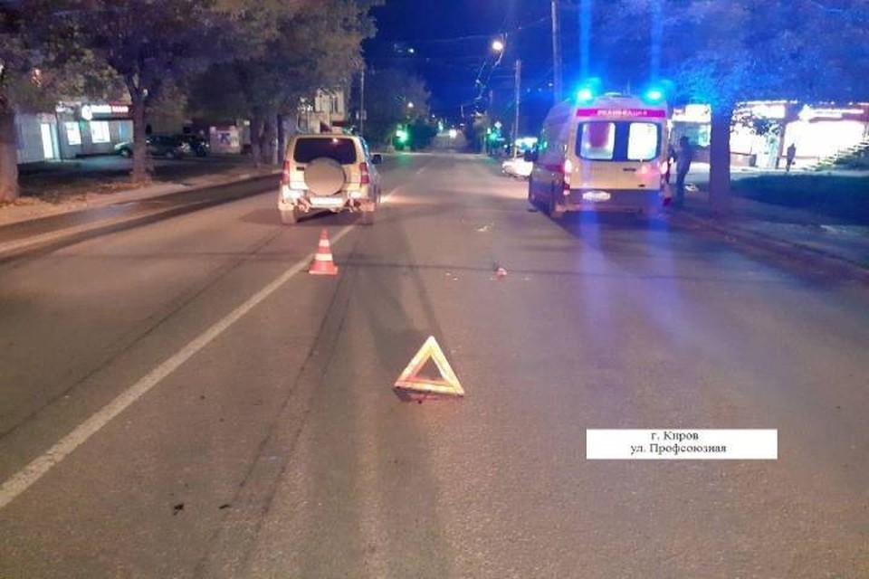 Авария произошла в темное время суток. Фото: vk.com/gibdd43