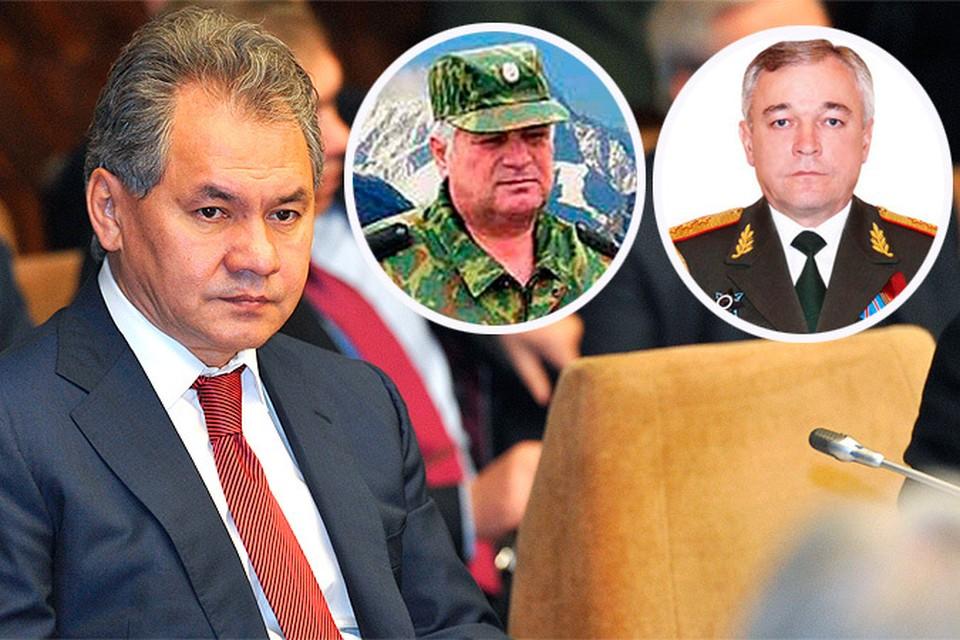 Шойгу обратился к президенту с просьбой восстановить на службе Анатолия Хрулева (слева) и Сергея Макарова (справа)